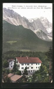 AK Unter-Grainau, Hotel-Pension zur schönen Aussicht