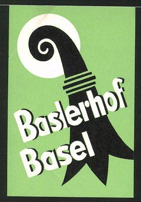 Kofferaufkleber Basel, Hotel Baslerhof, Ornament 0