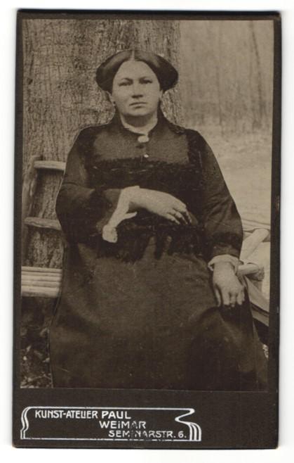 Fotografie Atelier Paul, Weimar, Portrait junge Frau mit zeitgenöss. Frisur, Montage
