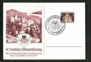 AK Lauenstein, 42. Deutscher Philatelistentag 1936, Burg Lauenstein, Ausstellung