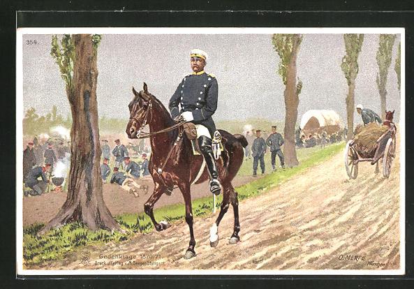 Künstler-AK O. Merte: Gedenktage 1870 /71, Bismarck