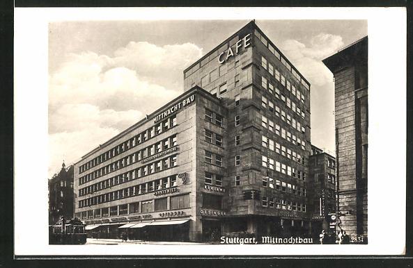 AK Stuttgart, Partie am Mittnachtbau, Bauhaus