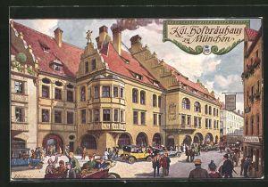 Künstler-AK Fritz Quidenus: München, Münchner Hofbräuhaus