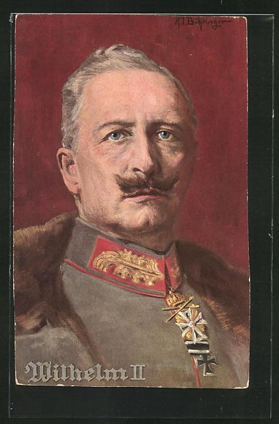 Künstler-AK Kaiser Wilhelm II. mit Eisernem Kreuz