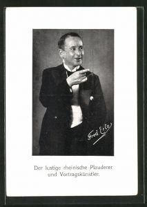 AK Rheinischer Komiker Fred Erlo