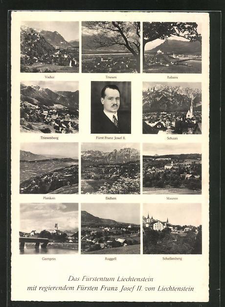 AK Fürst Franz Josef II. von Liechtenstein, Ortsansichten