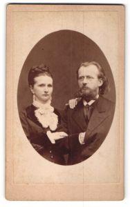 Fotografie unbekannter Fotograf und Ort, Portrait gutbürgerliches Paar