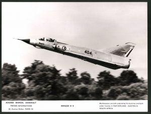 Fotografie Flugzeug Mirage III, Kennung : 404