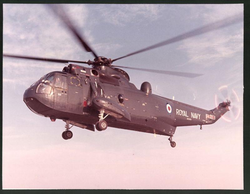 Fotografie Hubschrauber Sikorsky S-61 Sea King der Royal Navy