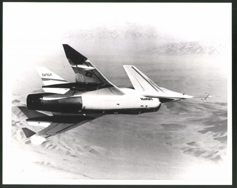 Fotografie Flugzeug Rockwell HiMAT, Experimental-Flugzeug der NASA & USAF, Grossformat 25 x 20cm