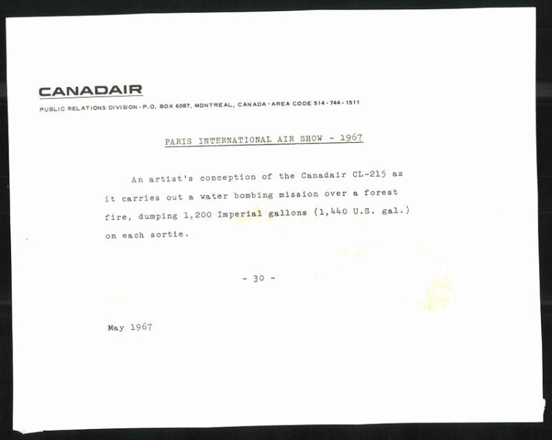 Fotografie Flugzeug Canadair Cl-215 Löscht Einen Waldbrand Sammeln & Seltenes