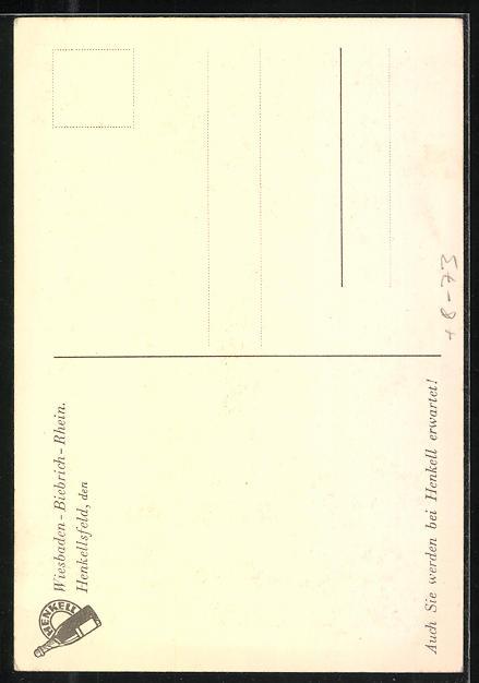 AK Wiesbaden-Biebrich / Rhein, Sektkellerei Henkell & Co., Säuleneingang i. d. Empfangshalle 1
