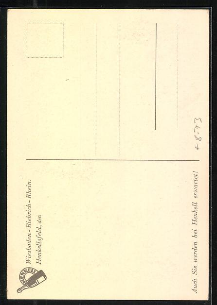 AK Wiesbaden-Biebrich / Rhein, Sektkellerei Henkell & Co., Blick auf den Kellereingang Majolka-Relief v. Fritz Behn 1