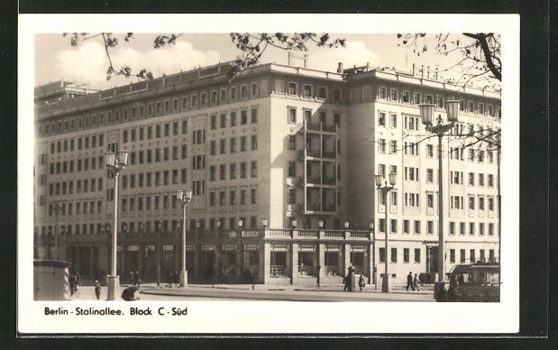 AK Berlin, Stalinallee, Block-C-Süd