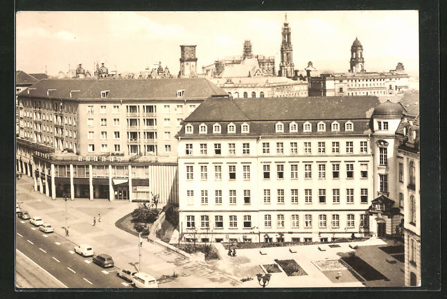 AK Dresden, HO-Gaststätte Szeged und Landhaus, Museum für Stadtgeschichte