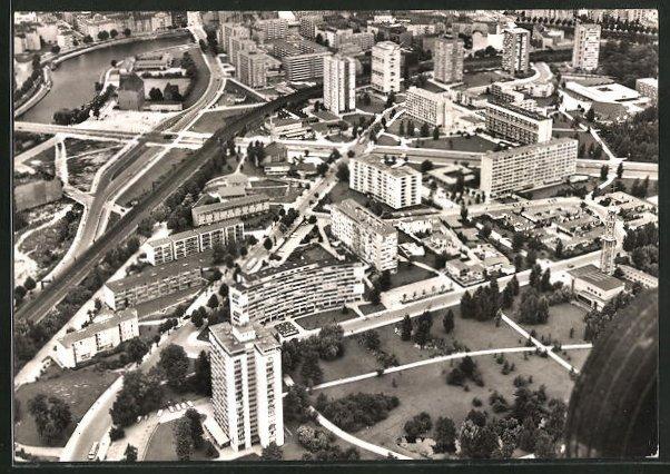 AK Berlin, Fliegeraufnahme vom Hansaviertel
