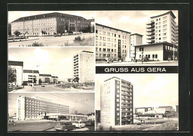 AK Gera-Bieblach, Kaufhalle Nord, Bergarbeiterpoliklinik