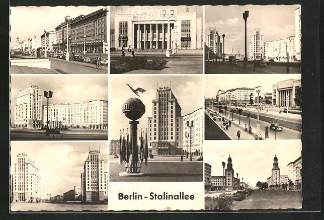 AK Berlin, Partie an der Stalinallee