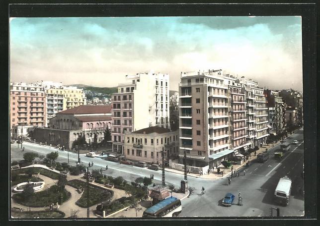 AK Thessaloniki, Blick auf die Rue Egnatia