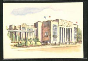 AK Bauten für die III. Weltfestspiele der Jugend und Studenten für den Frieden, Sportwettkampfhalle an der Stalin-Allee
