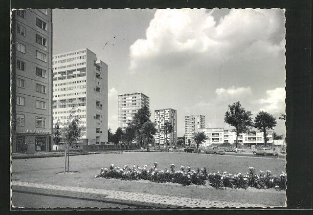 AK Berlin, Hochhäuser im Hansaviertel