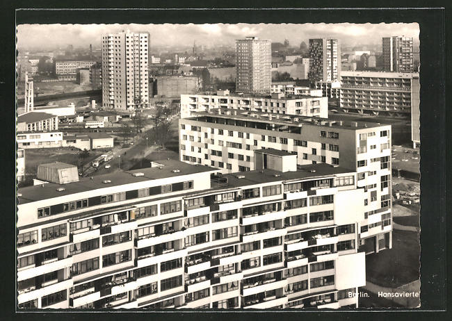 AK Berlin, Häuser im Hansaviertel