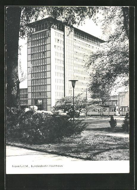 AK Frankfurt / M., Bundesbahn-Hochhaus