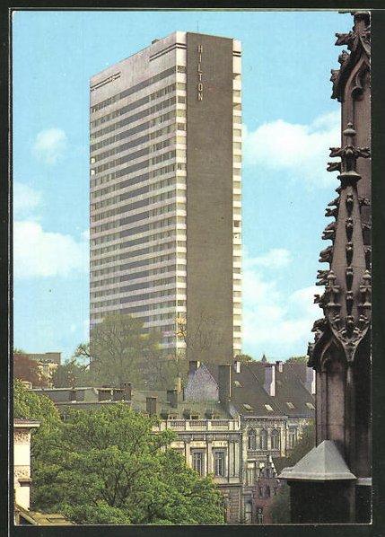 AK Brüssel, Blick zum Hilton-Hotel, Hochhaus