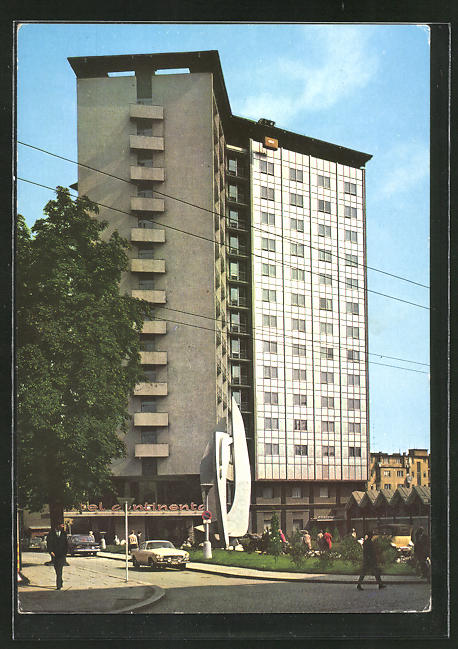AK Brno, Hotel Continental, Hochhaus