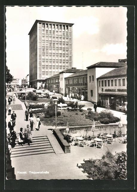 AK Kassel, Treppenstrasse und Hochhaus