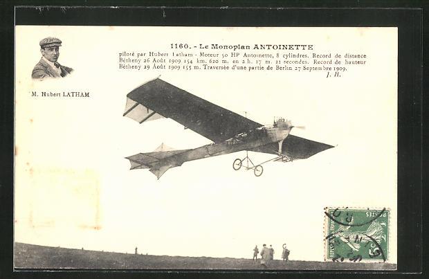 AK Monoplan-Flugzeug