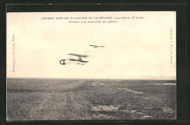 AK Flugzeug-Pioniere, Farman à la poursuite de Latham, Grande Semaine d'Aviation de Champagne