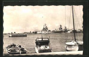 AK Toulon, Le Port, Le jean-Bart à quai, Kriegsschiff