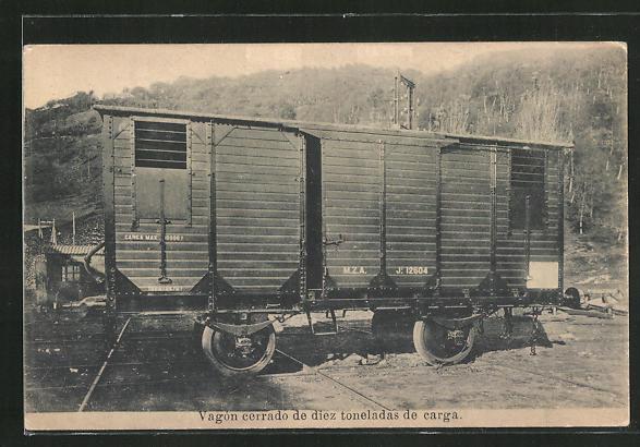 AK Vagón cerrado de diez toneladas de carga, Eisenbahn-Güterwaggon