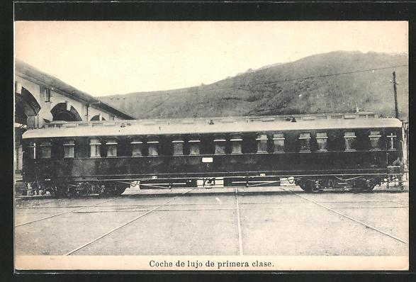 AK Coche de lujo de primera clase, Eisenbahn-Waggon