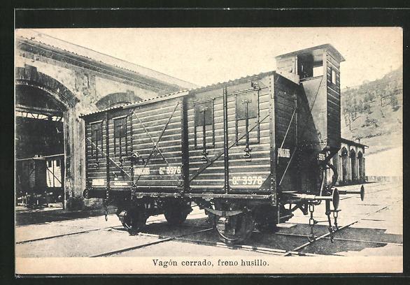 AK Vagón cerrado, freno husillo, Eisenbahn-Güterwaggon