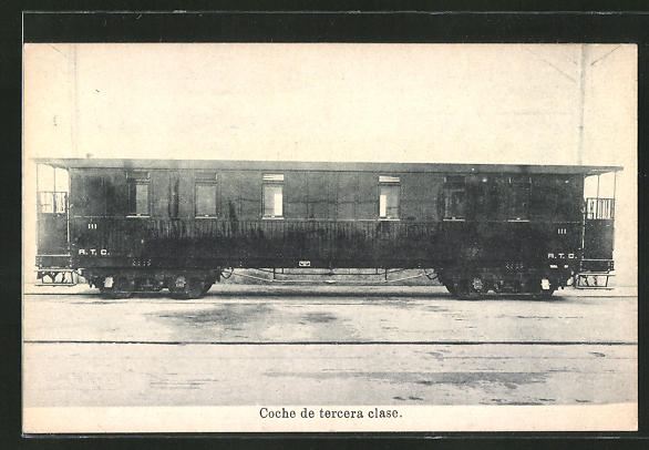 AK Coche de tercera clase, Eisenbahn-Waggon