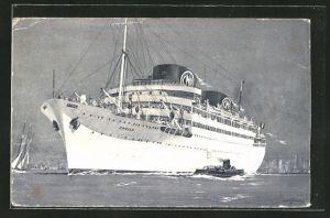 AK Compagnie de Navigation Paquet, Marseille, Passagierschiff auf hoher See
