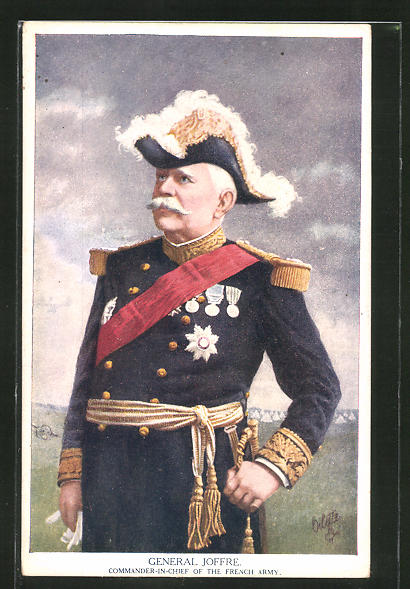 AK War Notabilities, General Joffre, Commander-in-Chief of the French Army