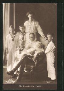 AK Kronprinz Wilhelm von Preussen mit Familie