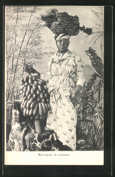 AK Martinique, Marchande de Bananes, Bananenverkäuferin