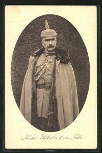 AK Kaiser Wilhelm II. in Uniform mit Pickelhaube