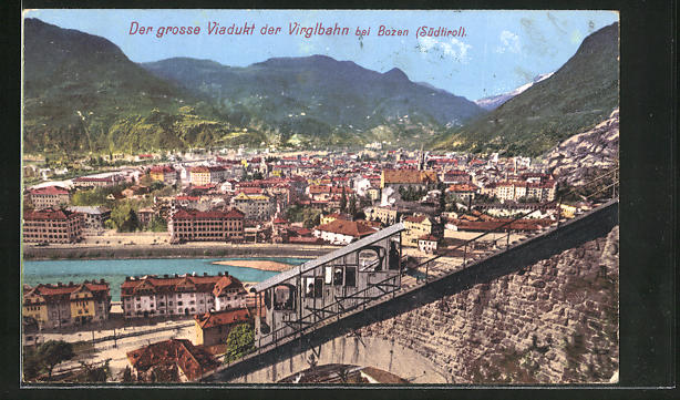 AK Bozen, Grosses Viadukt der Virglbahn