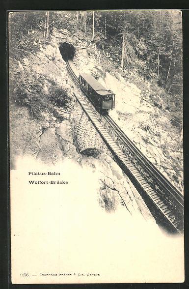 AK Pilatus-Bahn, Wolfort-Brücke, Bergbahn