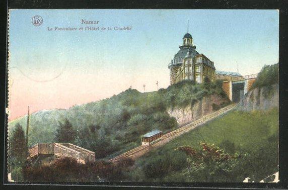 AK Namur, Le Funiculaire et l'Hôtel de la Citadelle