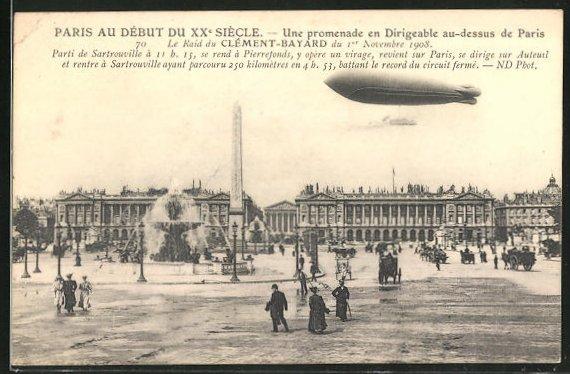 AK Paris, Französischer Zeppelin