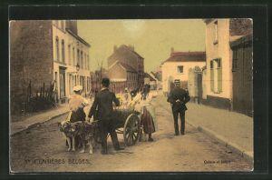 AK Laitières Belges, Milchkarren mit Hundegespann