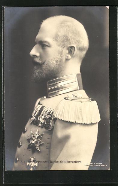 AK Le Prince Charles de Hohenzollern von Belgien