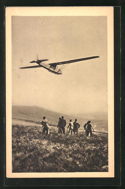 AK Avia 32 E en vol, Segelflugzeug in der Luft