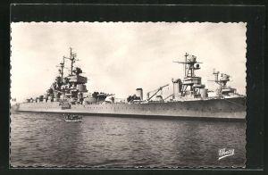 AK Toulon, le Port, le Jean Bart à Quai, Kriegsschiff